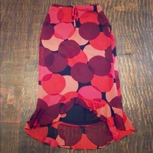 Betsy Johnson long silk pencil skirt size Sm